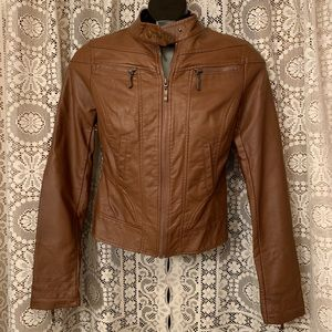 American Rag Jacket Faux Brown Leather